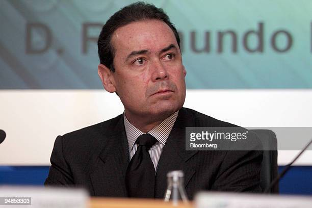Walter Bayly Llona of Gerente Central de Planeamiento y Finanzas listens at the Latibex conference in Madrid Spain Thursday November 18 2004