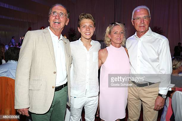 Walter Beckenbauer and his nephew Joel Beckenbauer Heidi Beckenbauer and her husband Franz Beckenbauer during the Kaiser Cup 2015 golfcup and gala on...