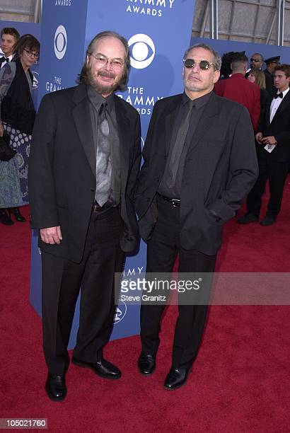 Walter Becker and Donald Fagen of Steely Dan during 43rd Annual Grammy Awards at Staples Center in Los Angeles California United States