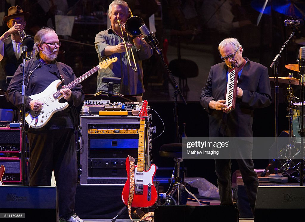 Walter Becker and Donald Fagen of Steely Dan perform at the Hollywood Bowl Opening Night at the Hollywood Bowl on June 18, 2016 in Hollywood, California.