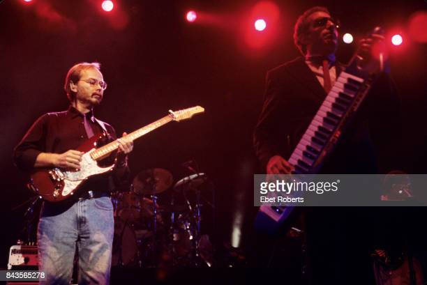 Walter Becker and Donald Fagen of Steely Dan performaing at Madison Square Garden in New York City on August 18 1993