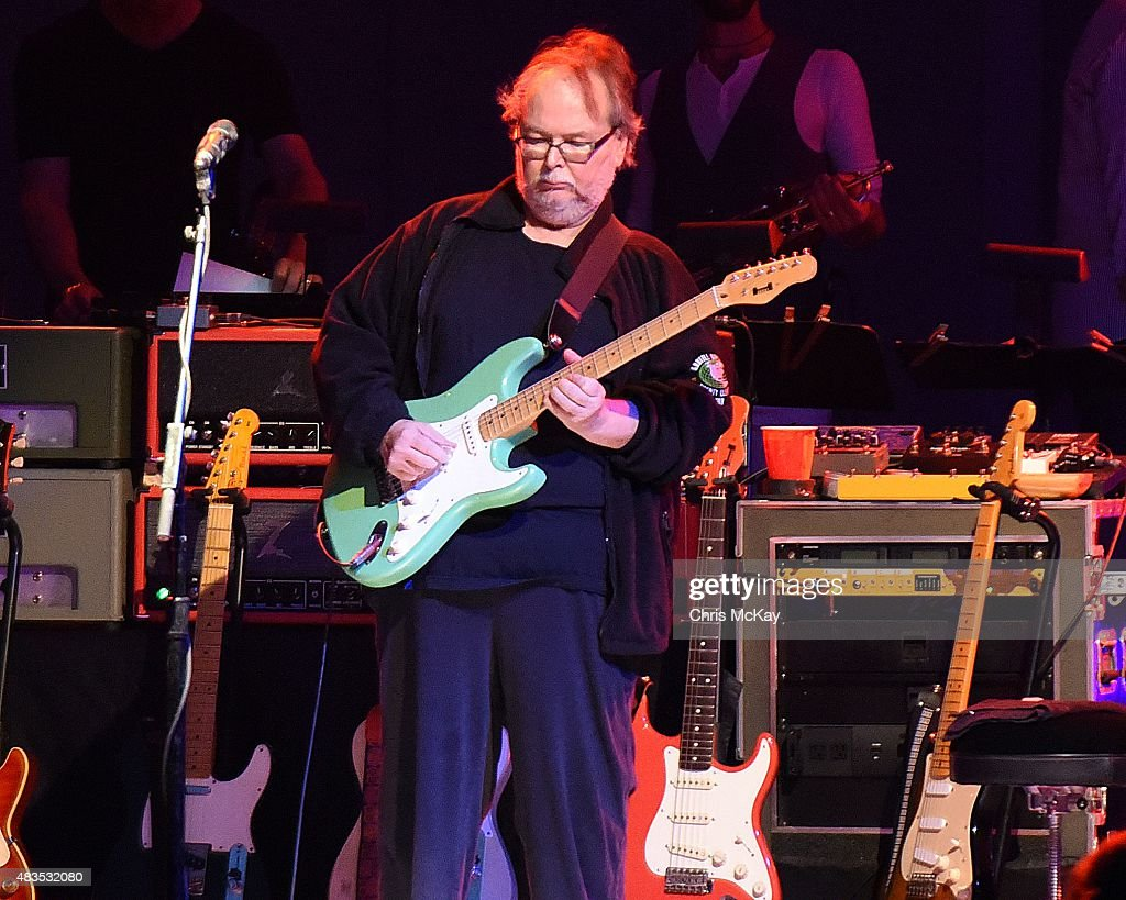 Walter Becker of Steely Dan performs at Chastain Park Amphitheater on August 9, 2015 in Atlanta, Georgia.