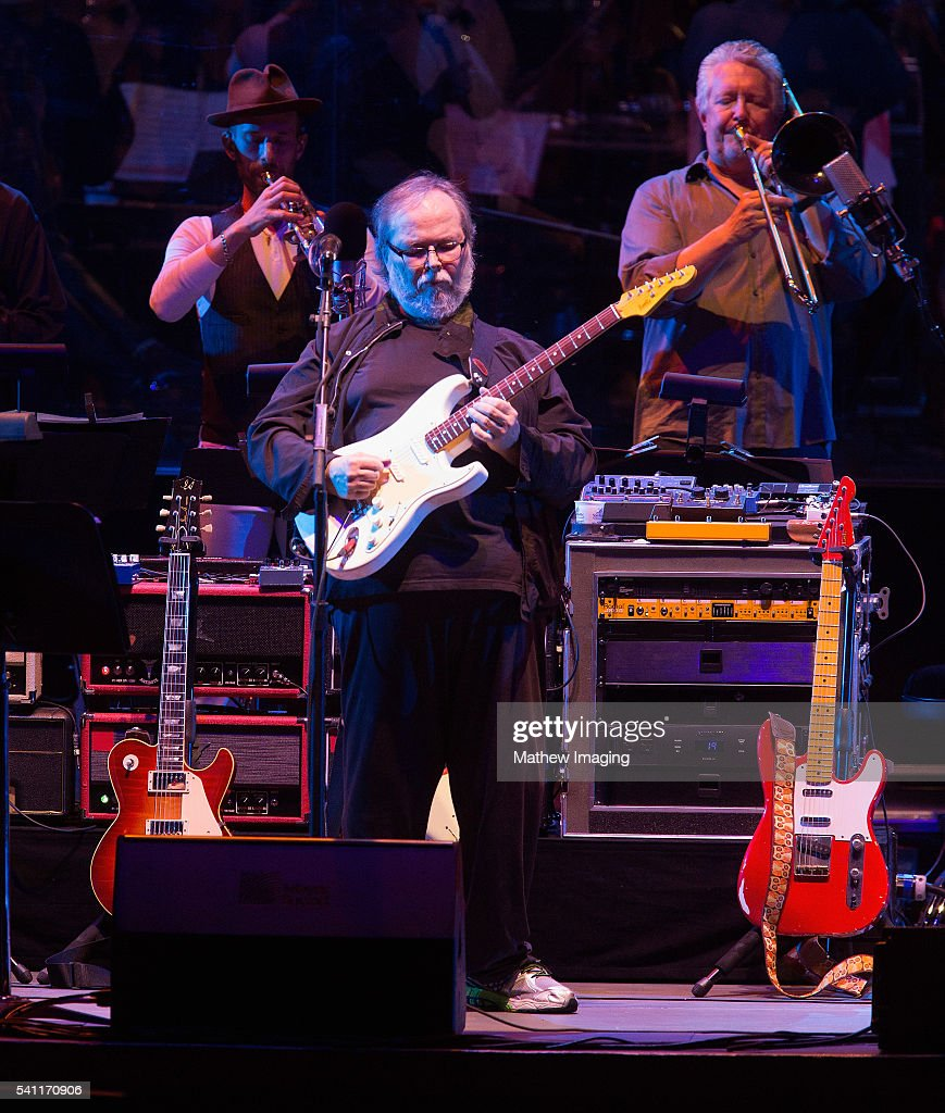 Walter Becker of Steely Dan performs at the Hollywood Bowl Opening Night at the Hollywood Bowl on June 18, 2016 in Hollywood, California.