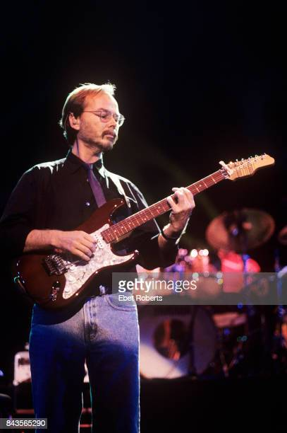 Walter Becker performing with Steely Dan at Madison Square Garden in New York City on August 18 1993 He is playing a James Tyler Classic series guitar