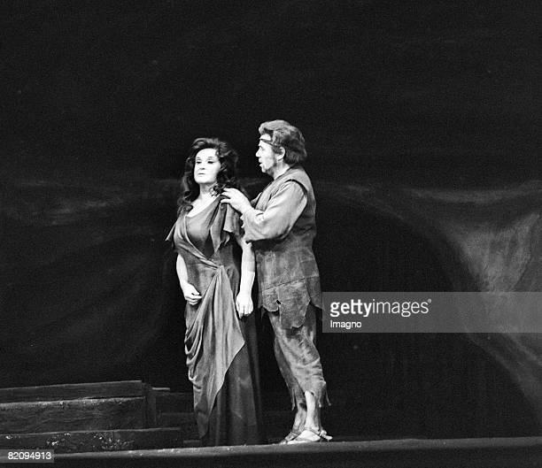Walter Berry as Barak and Birgit Nilsson as the Dyer's Wife in Die Frau ohne Schatten by Richard Strauss Wiener Staatsoper Photographie 1977 [Walter...