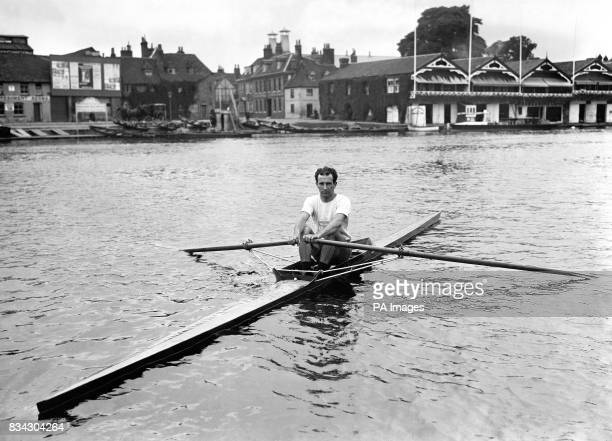 Walter Bowler of Canada at Henley who competed in the Men's single sculls at the 1908 Olympics