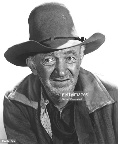 Walter Brennan on the set of Red River