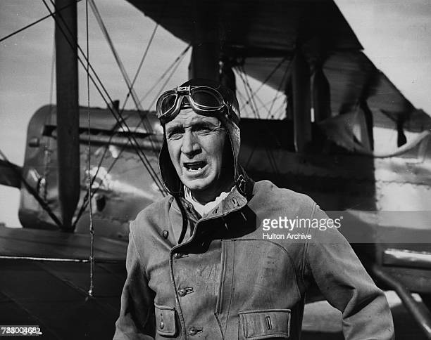 Walter Brennan the American character actor in a scene from the film 'Task Force' directed by Delmer Daves for Warner Brothers