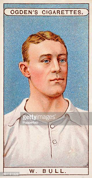 Walter Bull of Tottenham Hotspur featured on a vintage cigarette card published in London circa 1908