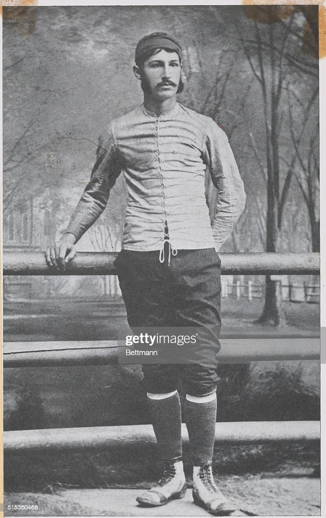Walter Camp pictured as Yale's Captain, 1878-79 : News Photo