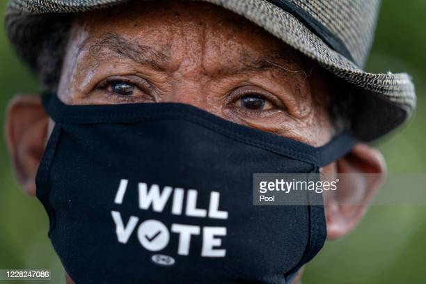 Walter Carter of Woodbridge, Virginia. Attends the March on Washington at the Lincoln Memorial on August 28, 2020 in Washington. Carter, who attended...