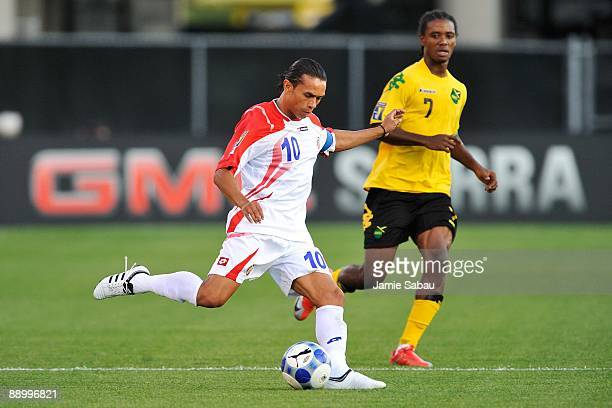 Walter Centeno of Costa Rica controls the ball against Jamaica in a CONCACAF Gold Cup match at Crew Stadium on July 7 2009 in Columbus Ohio