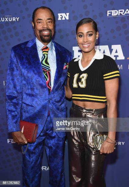 Walter Clyde Frazier and WNBA player Skylar Diggins-Smith attend the 31st FN Achievement Awards at IAC Headquarters on November 28, 2017 in New York...