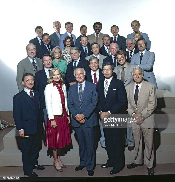 Walter Cronkite Dan Rather and the entire CBS News staff photographed in 1980