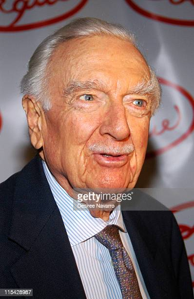 Walter Cronkite during Le Cirque Opening Party at One Beacon Court at One Beacon Court in New York City New York United States