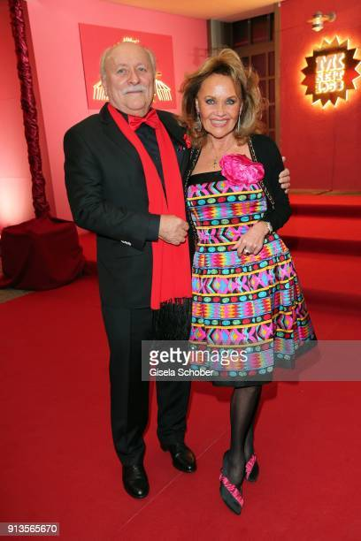 Walter Dueck and his wife Gaby Dueck attend Michael Kaefer's 60th birthday celebration at Postpalast on February 2 2018 in Munich Germany