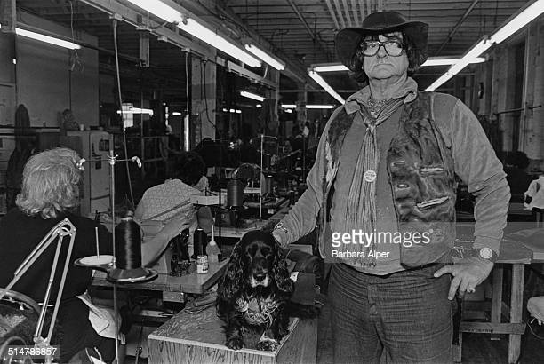 Walter Dyer in his 'Walter Dyer is Leather' factory in Framingham Massachusetts USA 16th June 1977