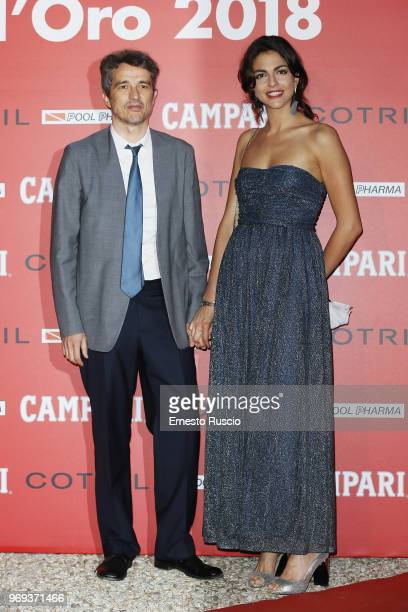 Walter Fasano and Beatrice Aiello arrive at the Ciak D'Oro Awards Ceremony at Link Campus University on June 7 2018 in Rome Italy
