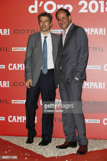 Walter Fasano and Luca Guadagnino arrive at the Ciak D'Oro Awards Ceremony at Link Campus University on June 7 2018 in Rome Italy