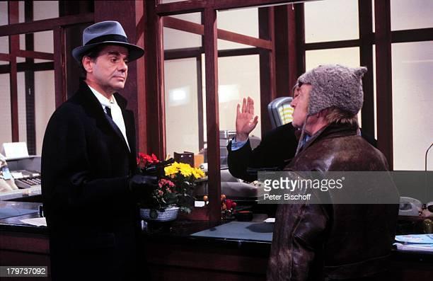 Walter Giller mit Günter Lüttge ZDFUnterhaltungsserie Locker vom Hocker1982