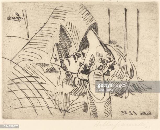 Walter Gramatté, , German, 1897 - 1929, Sonia etching in black on wove paper, plate: 23.2 x 30.8 cm , sheet: 33 x 45.2 cm .