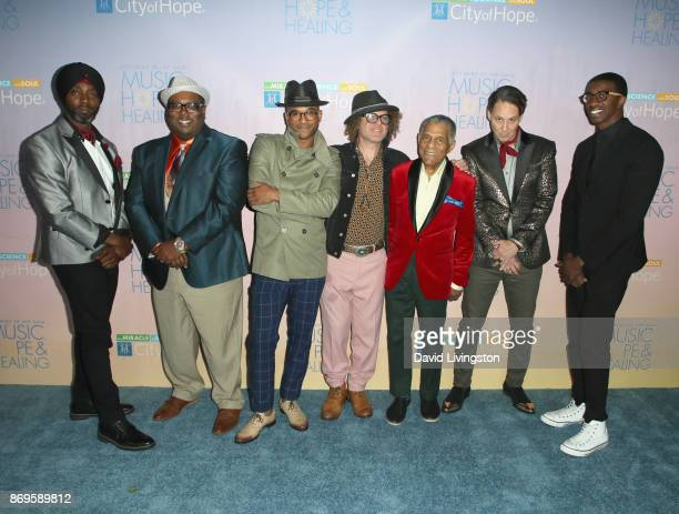 Walter Harris Ronell Johnson Branden Lewis Ben Jaffe Charlie Gabriel Clint MAedgen and Kyle Roussel at the City of Hope's 2017 Spirit of Life Gala at...