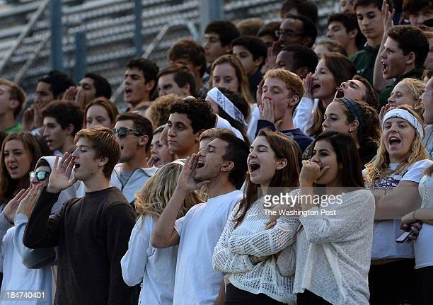 Walter Johnson students cheer on the boys' soccer team during the game against Churchill at Walter Johnson High School on Tuesday October 15 2013...