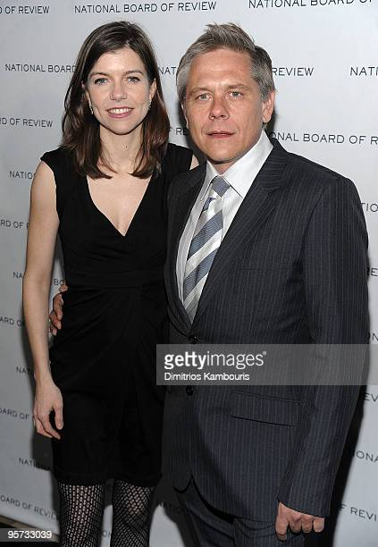 Walter Kirn and guest attends the 2010 National Board of Review Awards Gala at Cipriani 42nd Street on January 12 2010 in New York City