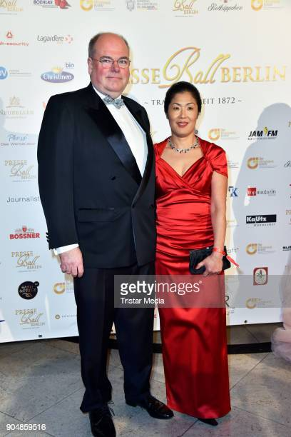 Walter Kohl and Kyung Sook Kohl attend the 117th Press Ball on January 13 2018 in Berlin Germany