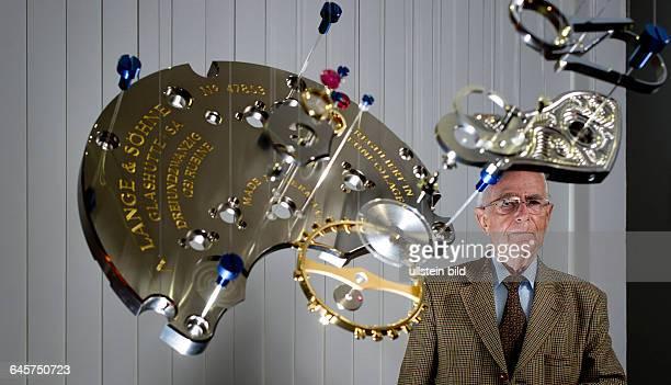Walter Lange Sohn von Rudolf Lange und Urenkel von Ferdinand Adolph Lange dem Gruender der Uhrenmanufaktur Lange Soehne aufgenommen am Dienstag im...