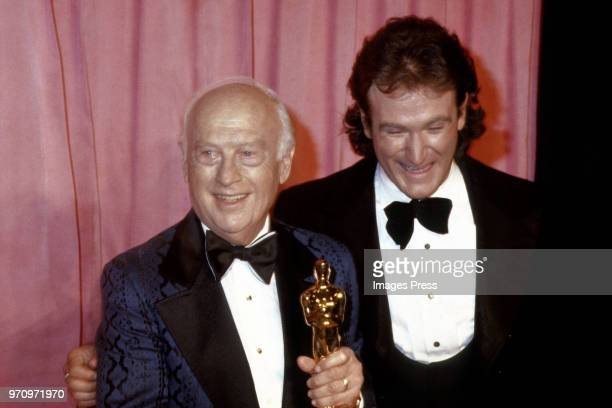 Walter Lantz and Robin Williams circa 1979 in Los Angeles.