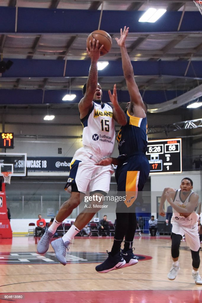 Walter Lemon Jr. #15 of the Fort Wayne Mad Ants handles the ball during the NBA G-League Showcase Game 23 between the Salt Lake City Stars and the Fort Wayne Mad Ants on January 13, 2018 at the Mississauga SportZone in Mississauga, Ontario Canada.