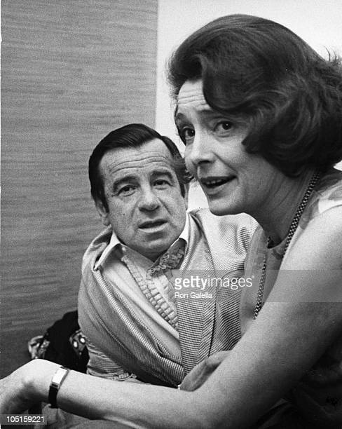 Walter Matthau and Pat Neal during 41st Annual Academy Awards at The Dorothy Chandler Pavillion in Los Angeles, California, United States.
