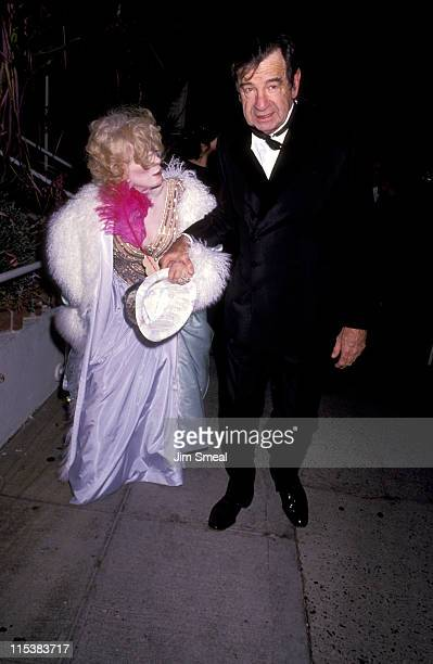 Walter Matthau Wife Carol during New Years Eve Party December 31 1990 at Spagos in West Hollywood CA United States