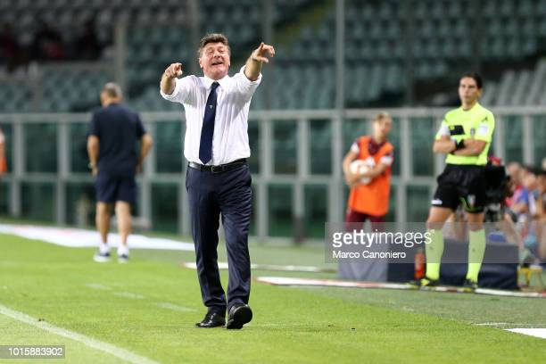 Walter Mazzarri head coach of Torino FC gestures during the Italia Tim Cup match between Torino Fc and Cosenza Calcio