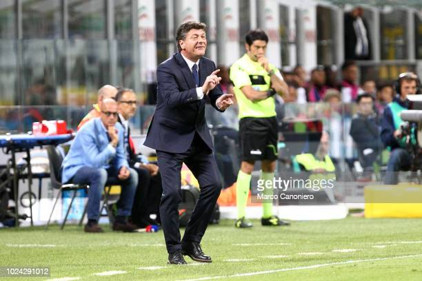 Walter Mazzarri head coach of Torino FC gestures during the Serie A football match between FC Internazionale and Torino Fc