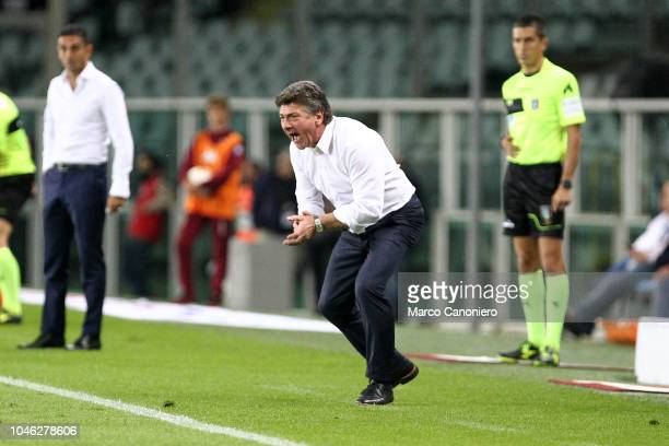 Walter Mazzarri head coach of Torino FC gestures during the Serie A football match between Torino Fc and Frosinone Calcio Torino Fc wins 32 over...