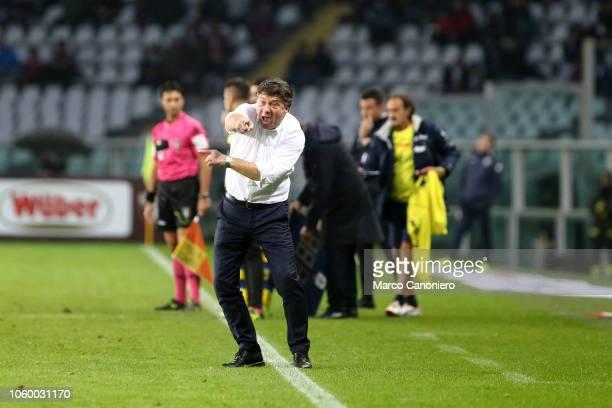 Walter Mazzarri head coach of Torino FC gestures during the Serie A football match between Torino Fc and Parma Calcio Parma Calcio wins 21 over...