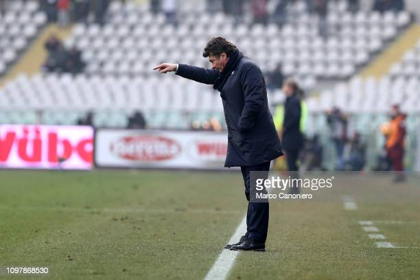 Walter Mazzarri head coach of Torino FC gestures during the Serie A football match between Torino Fc and Udinese Calcio Torino Fc wins 10 over...