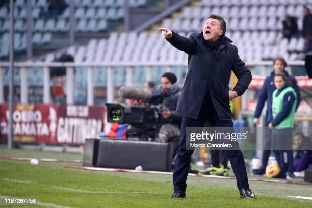 Walter Mazzarri head coach of Torino FC gestures during the Serie A match between Torino Fc and Acf Fiorentina Torino Fc wins 21 over Acf Fiorentina