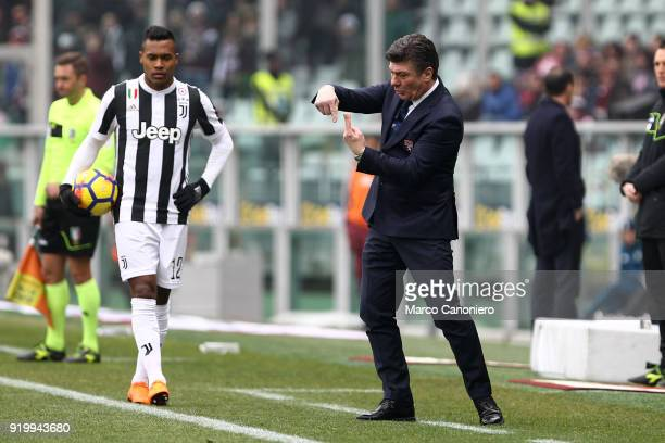 Walter Mazzarri head coach of Torino FC gestures during the Serie A football match between Torino Fc and Juventus Fc Juventus Fc wins 10 over Torino...