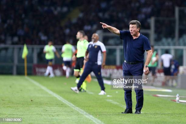 Walter Mazzarri head coach of Torino FC gestures during the the Serie A match between Torino Fc and Us Lecce US Lecce wins 21 over Torino Fc