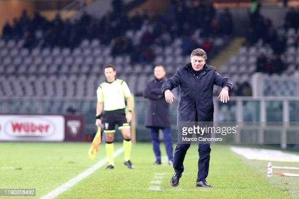Walter Mazzarri head coach of Torino FC gestures during the the Serie A match between Torino Fc and Spal Spal wins 21 over Torino Fc