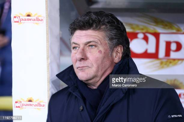 Walter Mazzarri head coach of Torino FC looks on before the Coppa Italia match between Torino FC and Genoa Cfc Torino Fc wins 64 over Genoa Cfc after...