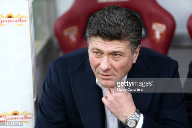 Walter Mazzarri head coach of Torino FC looks on before the Italia Tim Cup football match between Torino FC and Acf Fiorentina Afc Fiorentina wins 20...