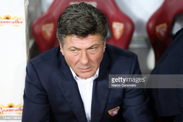 Walter Mazzarri head coach of Torino FC looks on before the Serie A football match between Torino FC and Frosinone Calcio Torino Fc wins 32 over...