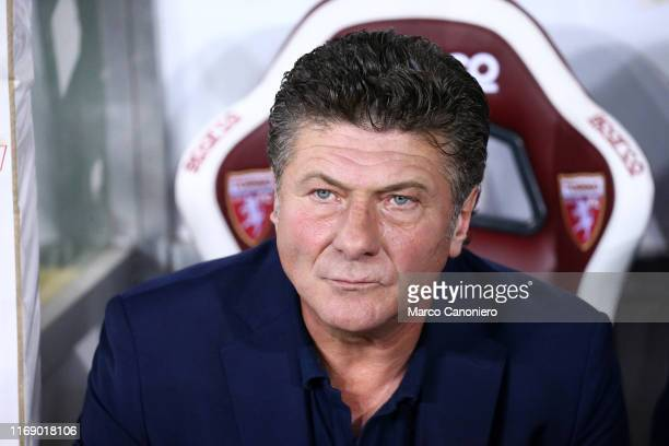 Walter Mazzarri head coach of Torino FC looks on before the the Serie A match between Torino FC and Us Lecce US Lecce wins 21 over Torino Fc