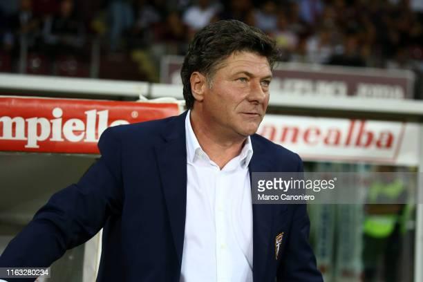 Walter Mazzarri head coach of Torino FC looks on before the UEFA Europa League playoff first leg football match between Torino FC and Wolverhampton...