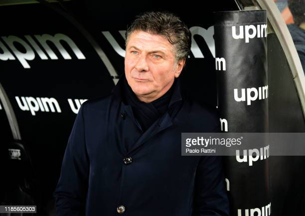 Walter Mazzarri head coach of Torino FC looks on during the Serie A match between Genoa CFC and Torino FC at Stadio Luigi Ferraris on November 30...