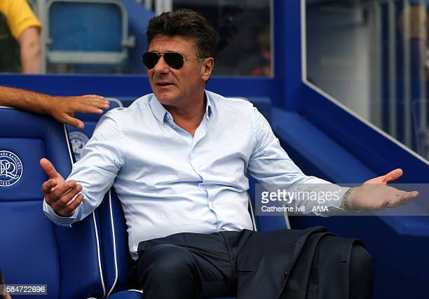 Walter Mazzarri manager of Watford during the PreSeason Friendly match between Queens Park Rangers and Watford at Loftus Road on July 30 2016 in...